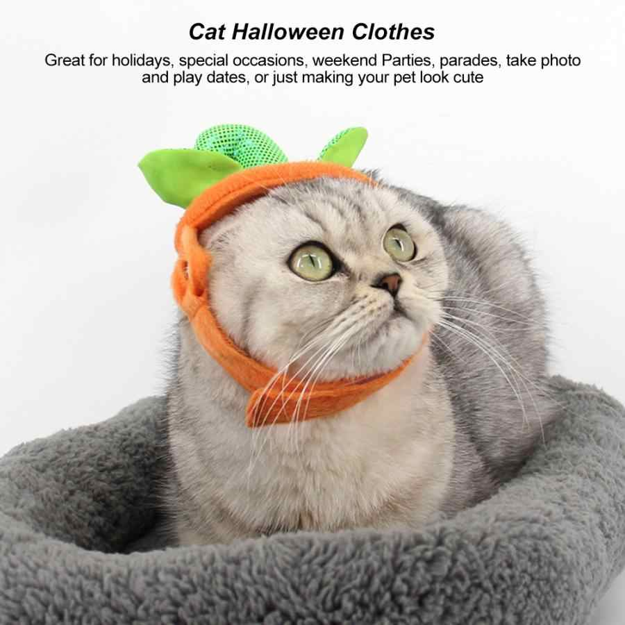 Cat Costume Accessories Pet Pumpkin Costume Cat Small Dog Clothes with Headgear for Party Halloween Cosplay Clothes for Cats