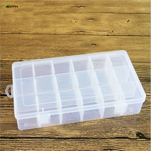18 Compartment Storage Box Practical Adjustable Plastic Case for Bead Rings Jewelry Display Organizer