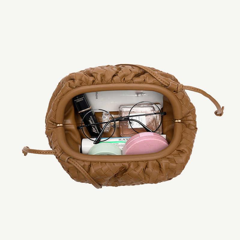 織雲バッグ女性のショルダーバッグミニマリスト2020新ファッションミニクラッチバッグソフト餃子ブランドデザインバッグスポット