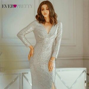 Image 5 - หรูหราชุดราตรียาวPretty Sequined Vคอเต็มรูปแบบเสื้อElegantชุดราตรีEP00824RG Vestido Noche Elegante 2020