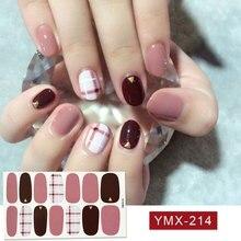 14tips/sheet Hot Colors Series Classic Collection Manicure Nail Polish Strips Nail Wraps,Full Nail Sheet DIY nail art decoration