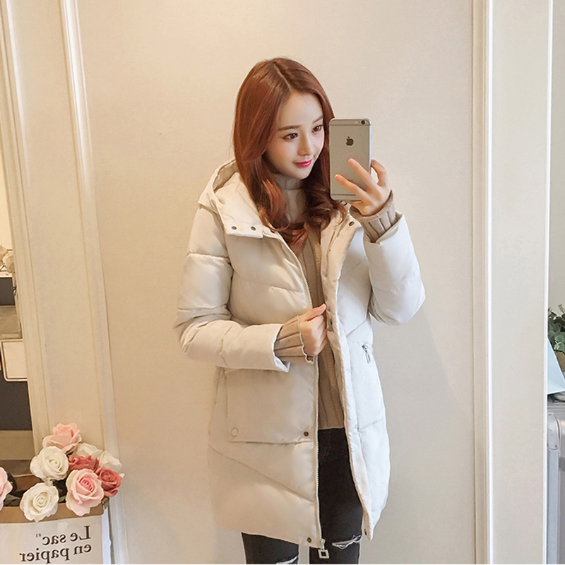 Image 4 - 47%OFF For Subscribers Winter Women jacket Casual Solid thick warm Long Hooded parkas Jackets female pocket sintepon snow coats-in Parkas from Women's Clothing