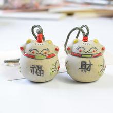Домашний декор Керамический Китайский счастливый кот Колокольчик