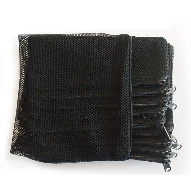 10Pcs Filter Net Bag Mesh Bag Acquarium Pond For Bio Ball Carbon Media Ammonia Aquarium Fish Tank Isolation Bag White Black
