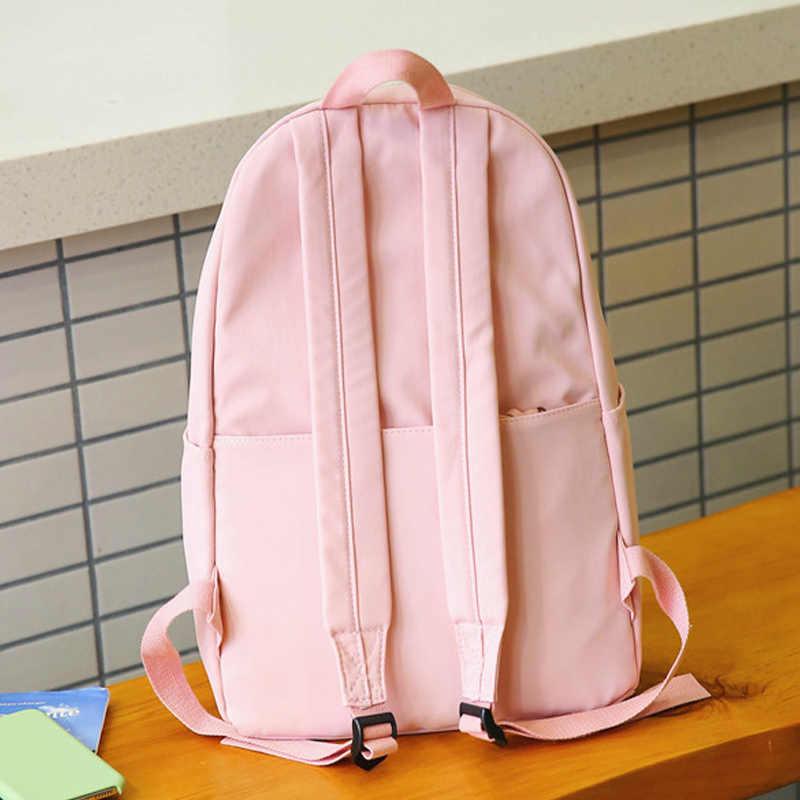 Красивый стильный женский рюкзак для путешествий ярких цветов, высококачественный водонепроницаемый нейлоновый Школьный рюкзак, модный светильник, нейлоновая школьная сумка