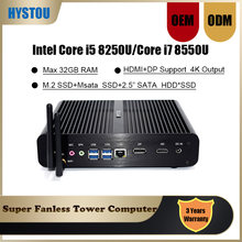 Intel core i5 8250u computador magro i7 8550u windows 10 pro linux lan wifi fanless mini pc i5 7260u 7560u iris mais 640 desktop(China)
