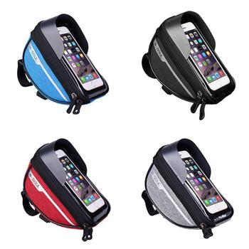 Bicycle Cycling Bike Head Tube Handlebar Phone Bag Case Holder Phone Mount Waterproof Touchscreen MTB Cycling Bag Accessories 9