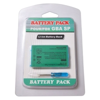 1 Uds 3,7 V 850mAh para Nintendo GBA SP de litio recargable Paquete de batería de iones de litio + cuchillo de la herramienta de destornillador de reemplazo de la batería