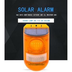 Luz de alarme solar sem fio pir sensor movimento do jardim ao ar livre solar à prova dwaterproof água sirene para casa assaltante sistema alarme segurança em casa