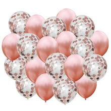 30pcs Rose Gold Balloon Confetti Set Birthday Party Anniversary Wedding Decoration