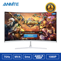 Anmite 21.5(22) inch TFT Lcd FHD Hdmi Curved monitor ultra thin Led computer display screen