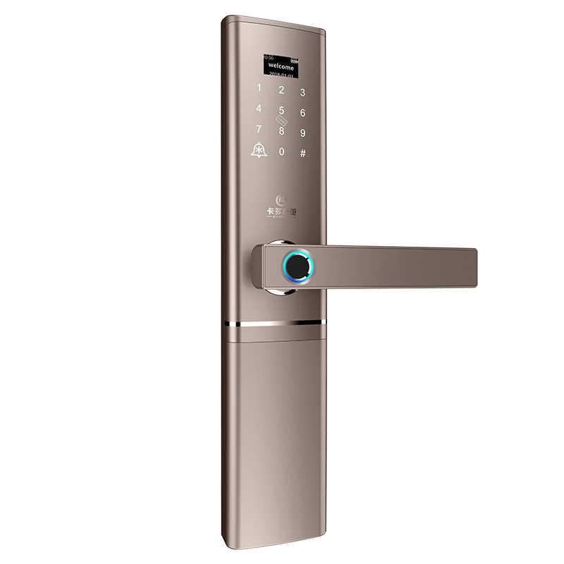 Smart Lock Sidik Jari Kunci Rumah Pintar Tanpa Kunci Cerdas Dua Sisi Sidik Jari Biometrik Kunci Pintu