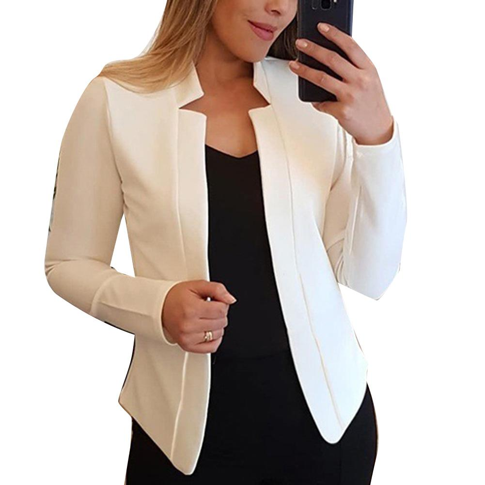 Fall Fashion Women Solid Color Long Sleeve Stand Collar Slims Fit Blazer Coat Women's Clothing Blazers Fashion Long Sleeve Suits