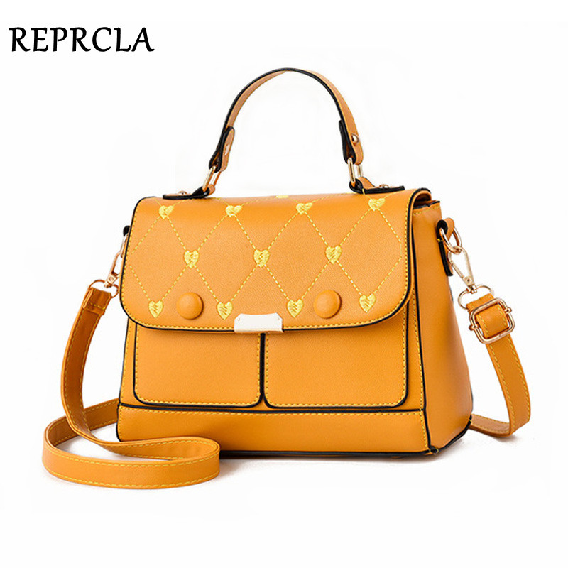 REPRCLA 2019 Luxury Handbag Women Shoulder Bag Fashion Brand Crossbody Messenger Bags For Women PU Leather Ladies Hand Bags