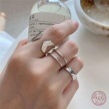 925 prata esterlina boêmio simples geométrica inclinado duplo anel feminino verão praia casual jóias namorada presente