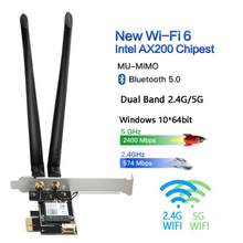 Dual Band 2.4G/5G 3000Mbps Wireless Network Card PCIE Wifi Adapter For Desktop PC With Intel WiFi 6 AX200 Bluetooth 5.0 802.11ax(China)