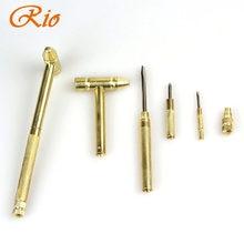 Nowy 5 w 1 Micro Mini Multi mosiężny młotek 4 rodzaje wkrętaki kieszonkowe narzędzia diy