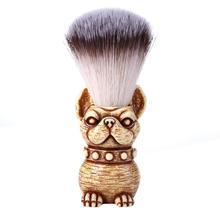 Профессиональная Кисть для бритья, нейлоновая щетина, деревянная ручка для собак, Мужская щетина для волос, щетка для очистки бороды, инструмент для ухода за волосами