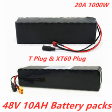 цена на 48v lithium ion battery 48v 10Ah 1000w 13S3P Lithium ion Battery Pack For 54.6v E-bike Electric bicycle Scooter with BMS+charger