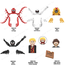 WM6120 Disney Marvel Venom Buliding Blocks Bricks Movie TV Mini Action Figures Heads series Educational Kids Toys Birthday Gifts