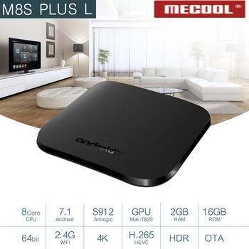 New M8S Plus L Amlogic S912 Octa-Core Android TV 7.1  2GB Ram 16GB Rom 4K HD HDR TV Box Android TV Box Set Top Box VS X99 TV BOX