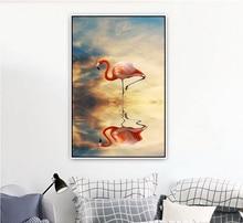 Настенная Картина на холсте с изображением фламинго теней тематические