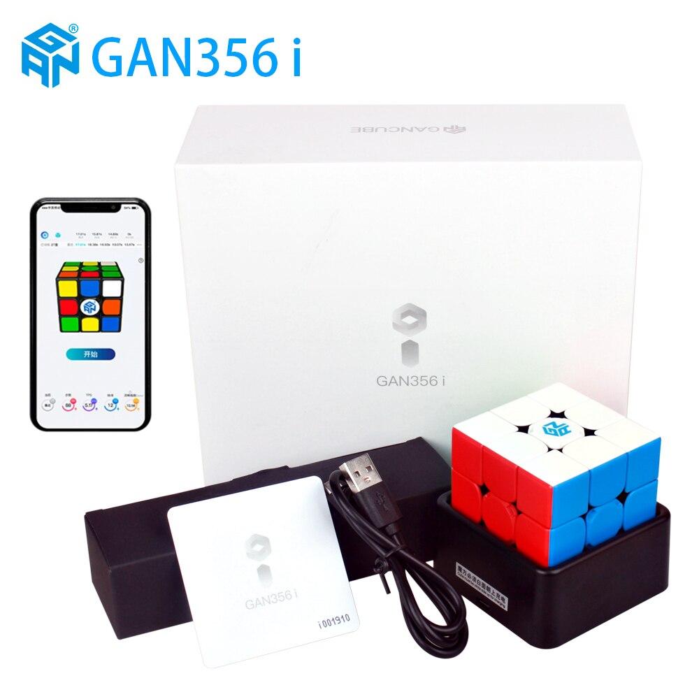 Nouveau GAN356 i magnétique magique vitesse Cube professionnel sans bâton gan356i aimants en ligne compétition Cubes GAN 356 i Cubo Magico