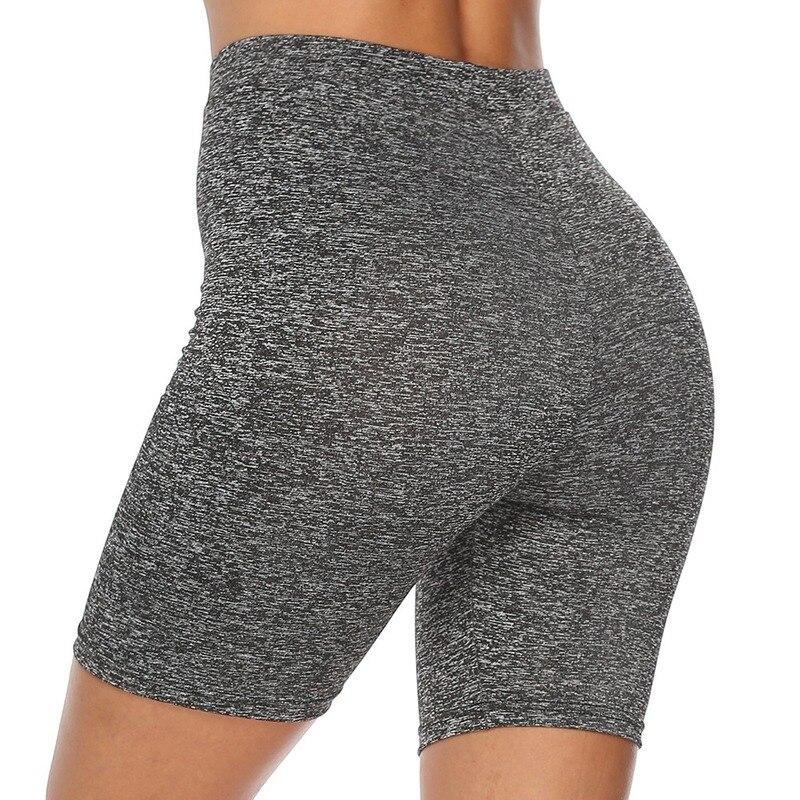 Летние шорты с высокой талией, женские сексуальные байкерские шорты, обтягивающие шорты Feminino, повседневные хлопковые черные шорты, спортив...