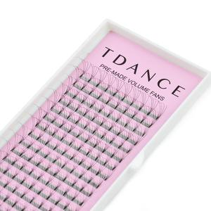 Image 5 - TDANCE 100 TRAYS/LOT 16 Lines Short Stem Premade Lashes Russian Volume Eyelash Extensions Faux Mink Lash Extension