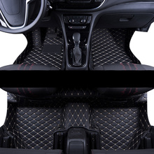 цена на lsrtw2017 leather car floor mat for opel mokka x 2012 2013 2014 2015 2016 2017 2018 2019 accessories rug carpet interior styling