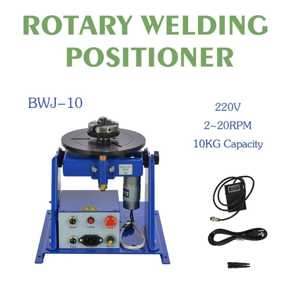 220V 10KG Rotary Welding Positioner Turntable Table Mini 2 5inch 3 Jaw Lathe Chuck