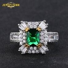 Женское Винтажное кольцо с изумрудом jewepisode серебряное 925