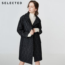 SELECTED Women's Loose Fit Mid-length Laced Woolen Coat S|418427510(China)