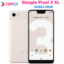 Google Pixel 3XL orijinal Unlocked GSM 4G android cep telefonu 6.3 ''12.2MP ve çift 8MP Octa çekirdek Snapdragon 845 4GB ve 128GB NFC