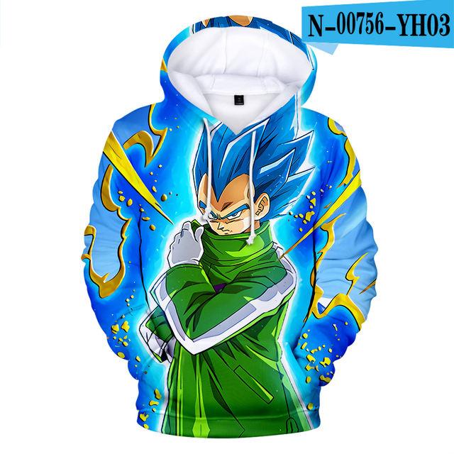 Cosplay Dragon Ball Hoodies 3D Print Sweatshirt