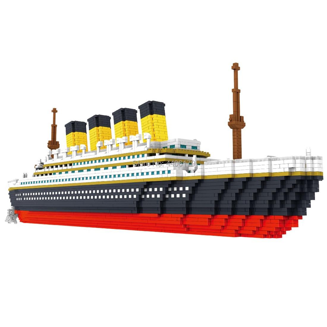 Hot LegoINGlys technic creators Classic cruise Titanic ship mini micro diamond building blocks model bricks collection toys gift фото