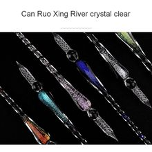 1pcs Glass Dip Pen Faux Crystal Ink Signature Inside Flower for Writing Art Decor Gift