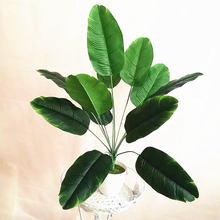 66 см искусственные пальмовые растения с 12 вилками зеленые