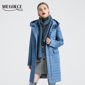 Image 2 - MIEGOFCE 2020 New Collection Womens Spring Jacket Stylish Coat with Hood and Patch Pockets Double Protection from Wind Trench