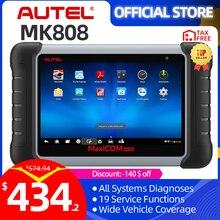 Autel maxicom mk808 obd 2 ferramenta de diagnóstico do carro obd2 scanner funções de diagnóstico automático leitor código obdii chave programação pk mx808