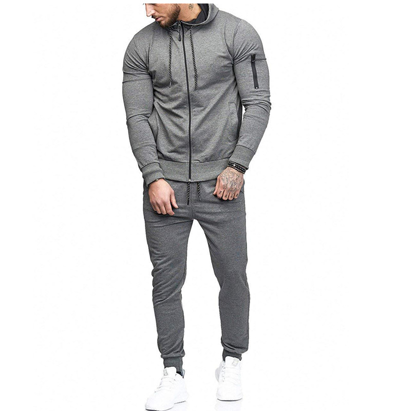 Men's Sportswear, Coat, Hoodie, 2 Pieces Of Autumn Sports Clothing, Suitable For Men's Fitness Leisure Jogging Pullover