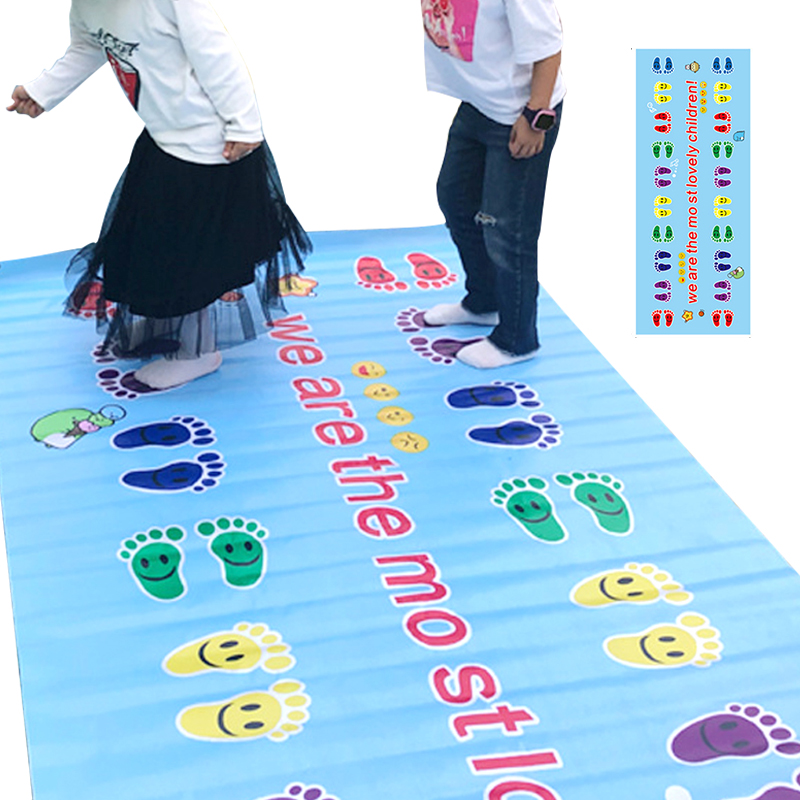 Outdoor Games For Kids Hands And Feet Game Pad Funny Jumping Carpet Mat Outdoor Training Games Child Pads Toys For Children
