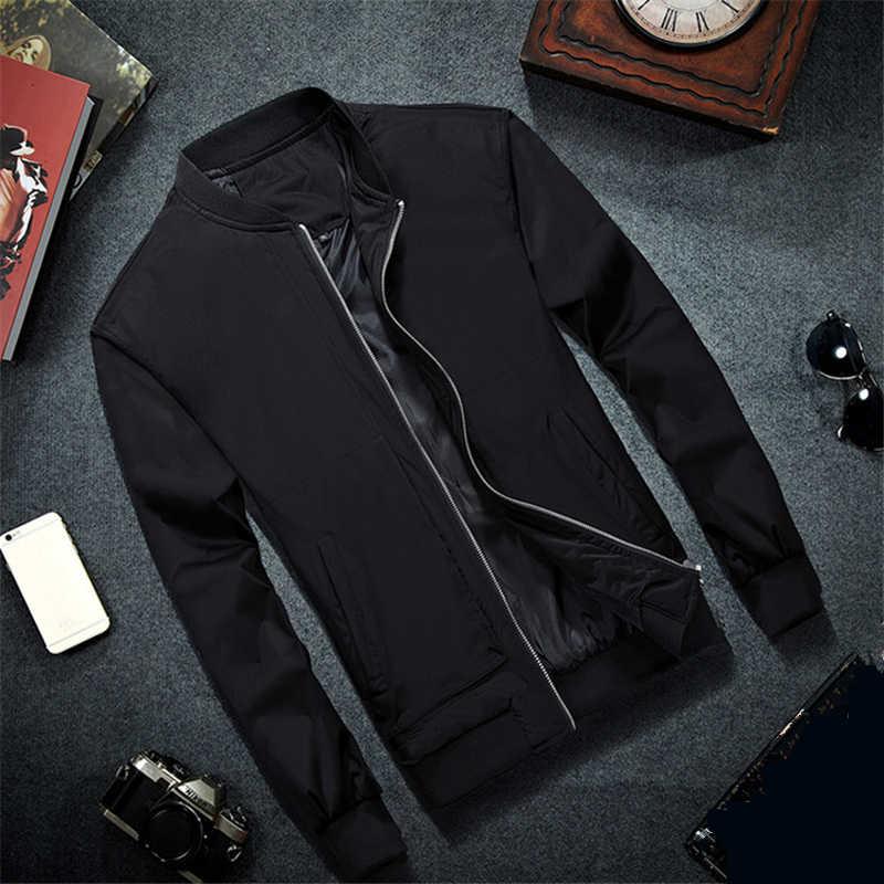 2018 Men/'s Long Sleeve Slim Coat Baseball Thin Casual Zipper Jacket Outwear Tops