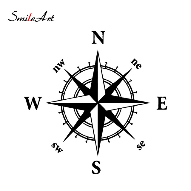 $ 1.01 Car-styling Compass Car Decal Offroad Suv Waterproof Accessories