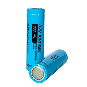 Image 5 - 10PCS New PKCELL ICR 14500 Li ion AA Rechargeable Battery 800mAh 3.7V 14500 lithium batteries Flat Top For Flashlight