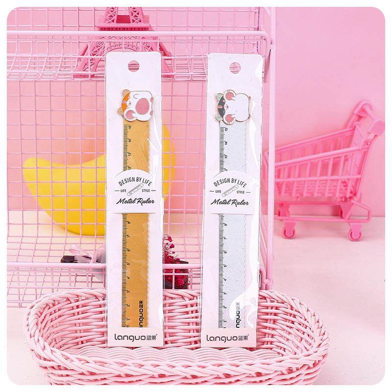 1 Pcs/lot Little Hamster Rulers Kawaii Drawing Template Lace Sewing Ruler Stationery Office School