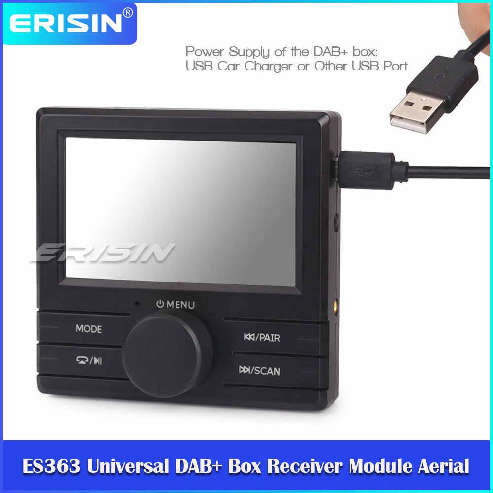 Erisin ES363 Externe Universele Dab + Digitale Autoradio Doos Module Antenne Adapter Kit Fm-zender