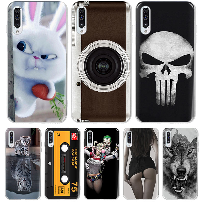 Painted Soft Silicone TPU Phone <font><b>Case</b></font> For <font><b>Samsung</b></font> <font><b>Galaxy</b></font> A30 A50 A20 A40 <font><b>A10</b></font> A70 A 30 50 20 10 70 <font><b>Cases</b></font> Back Cover Coque Fundas image
