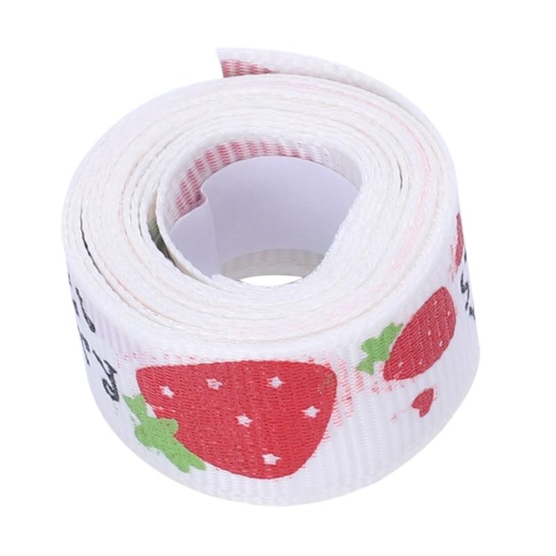 DIY Satin Lace Decorative Tape Washi Masking Fabric Stickers Beige Red