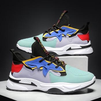 Zapatillas de deporte transpirables para hombre, calzado deportivo cómodo para adultos, de goma, para entrenamiento 1